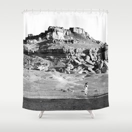 Hopi Indian village of Mishongnovi. 1901 Shower Curtain