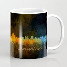 Jerusalem City Skyline Hq v4 Coffee Mug