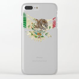 Flying Eagle Vintage Mexican Design Mexican Flag Design For Mexican Pride Clear iPhone Case