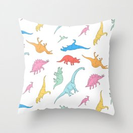 Dino Doodles Throw Pillow