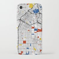 los angeles iPhone & iPod Cases featuring Los Angeles by Mondrian Maps