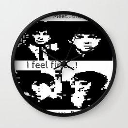 John, Paul, George and Ringo PAST TELETEXT ART. 1963 MUSIC. Wall Clock
