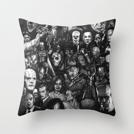 Classic Horror Guice Throw Pillow