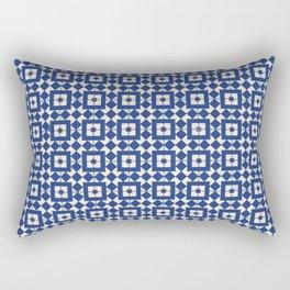 Beautiful Pattern #33 Blue and white tile design pattern Rectangular Pillow