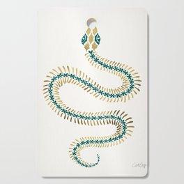 Snake Skeleton – Emerald & Gold Cutting Board