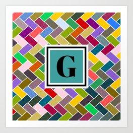 G Monogram Art Print