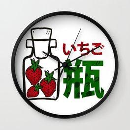 My Strawberry Bottle いちご瓶 Wall Clock