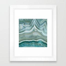Agate Crystal Blue Framed Art Print