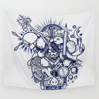 doodle Wall Tapestries featuring Doodle by Puddingshades