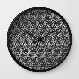 Virynne (Silver Grey) #patterns Wall Clock