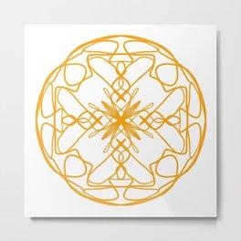 Ochre disk Metal Print