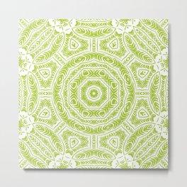 Spring Botanic Mandala Metal Print