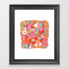 ABSTRACT 0017 Framed Art Print