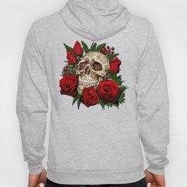 Red Rose Sugar skull Hoody