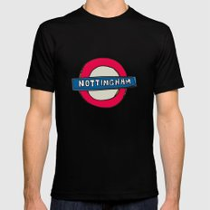tube sign MEDIUM Black Mens Fitted Tee