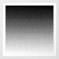 Halftone Gradient Art Print