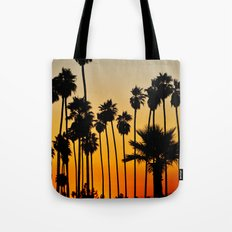 Palms to the Waning Day Tote Bag