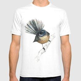 Mr Pīwakawaka, New Zealand native bird fantail T-shirt