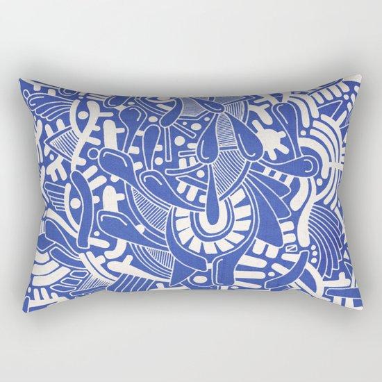 - captain lost in blue - Rectangular Pillow