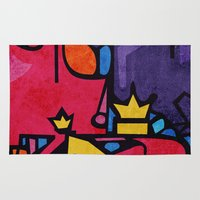 crown Area & Throw Rugs featuring Crown by Arcturus