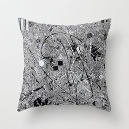 Power of Silver Throw Pillow