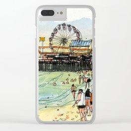 Santa Monica Seaside Clear iPhone Case