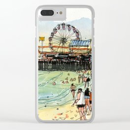 Santa Monica Seaside Clear iPhone Case