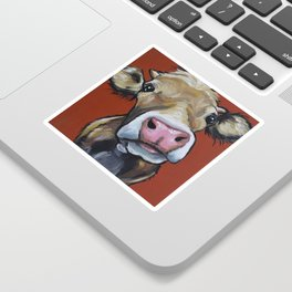 Cow art, Cute colorful cow art Sticker