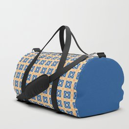 Pixelated Squares - Yellow and blue pattern Duffle Bag