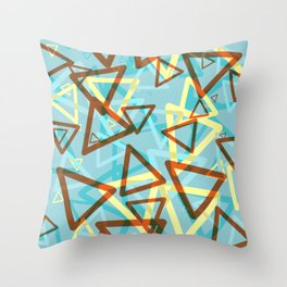Falling Triangles Retro Design Throw Pillow