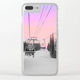 Ski Lift Sunset Shot on iPhone 4 Clear iPhone Case