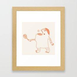 Game, Set and Munch Framed Art Print