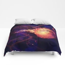 Jellyfish of the Blacklight Electro Rave Comforters