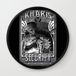 Kharis Security Service Wall Clock