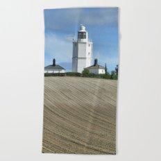 Joss Bay Lighthouse Beach Towel