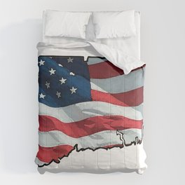 Patriotic Connecticut Comforters