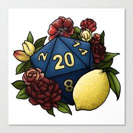 Marsala Lemon D20 Tabletop RPG Gaming Dice Canvas Print