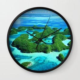 Palau Island Paradise Wall Clock