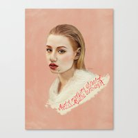 iggy Canvas Prints featuring IGGY by Share_Shop