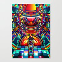 2001 a space odyssey Canvas Prints featuring 2001 a space odyssey by Van Orton Design