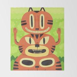 Totem Cat Throw Blanket