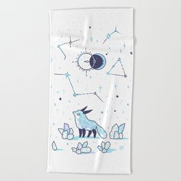 Arctic Nights Beach Towel