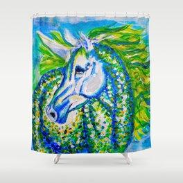 A Unicorn Named Aurora Shower Curtain