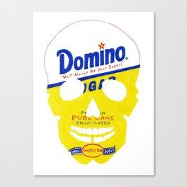 Save Domino Skull Canvas Print