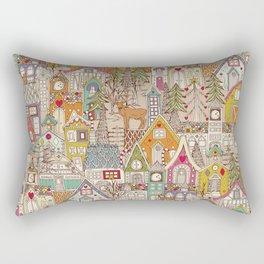 vintage gingerbread town Rectangular Pillow