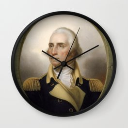 George Washington Portrait Wall Clock