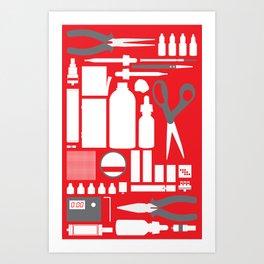 Vaping Tools Art Print