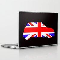 mini cooper Laptop & iPad Skins featuring Mini Cooper by Derek Donovan