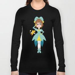 Mini Me Stars: Green Sakura Long Sleeve T-shirt