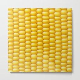 Corn Cob Background Metal Print